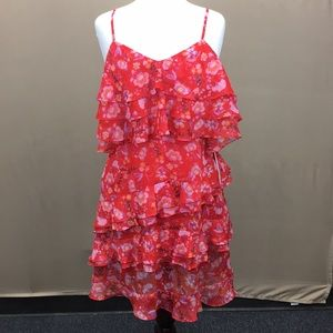 NWT Aqua by Bloomingdale's Red Floral Summer Dress